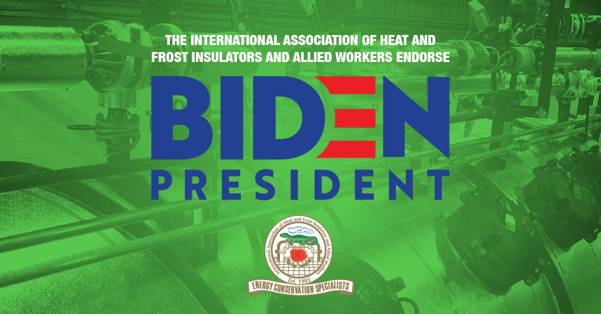 Insulators Union - Support for Biden 2020